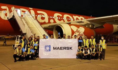 Mearsk's first air freight service launched. Image: Maersk