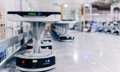 Geek+and AMH Material Handling deliver the robotic sortation project with Asda Logistics Services. Image: Geek+