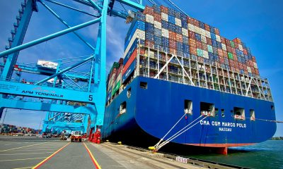 APM Terminals Elizabeth welcomes largest container ship to call US East Coast. Image: APM Terminals