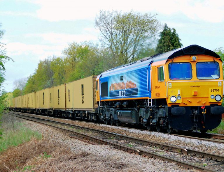 GBRf & MSC UK drive sustainability with new 5-year rail deal. Image: GBRF