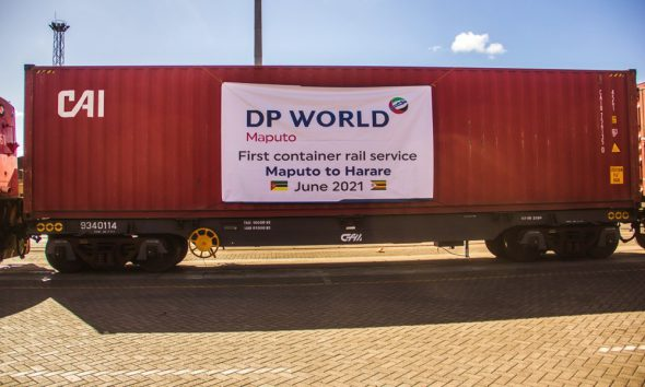 DP World Maputo launches first dedicated logistics rail service between Maputo and Harare. Image: DP World