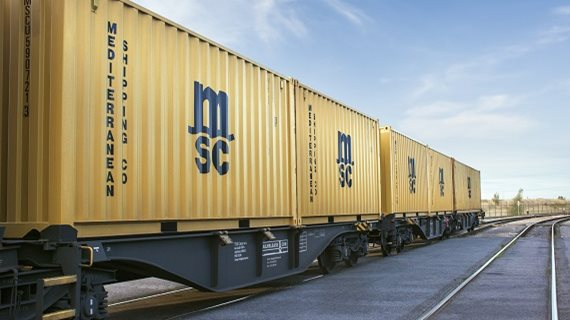 Good traction for MSC's Asia-to-Europe ocean and rail solution. Image: MSC