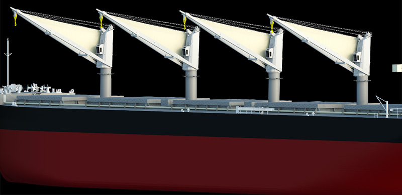 MOL jointly develops new energy-saving sail to boost ship propulsion. Image: MOL