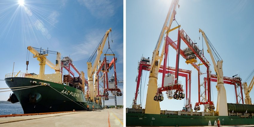 AAL delivers mobile gantry cranes to Port of Oslo. Image: AAL