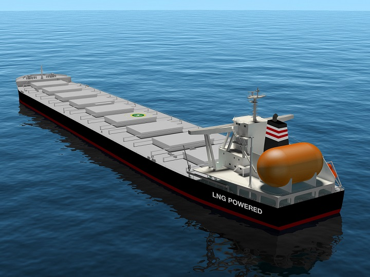 NYK to build company's first LNG-fueled capesize bulk carrier. Image: NYK Line