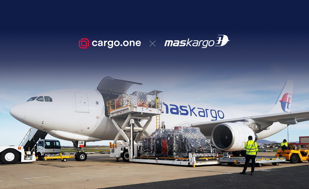 MASkargo and cargo.one announce global partnership to revolutionize the airline's digital presence. Image: cargo.one