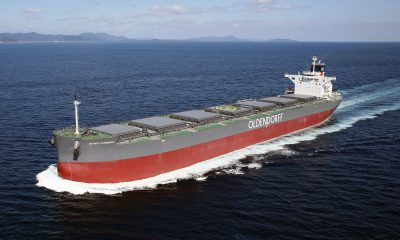 Oldendorff Carriers signed two deals to load logs from Tauranga. Image: Oldendorff Carriers