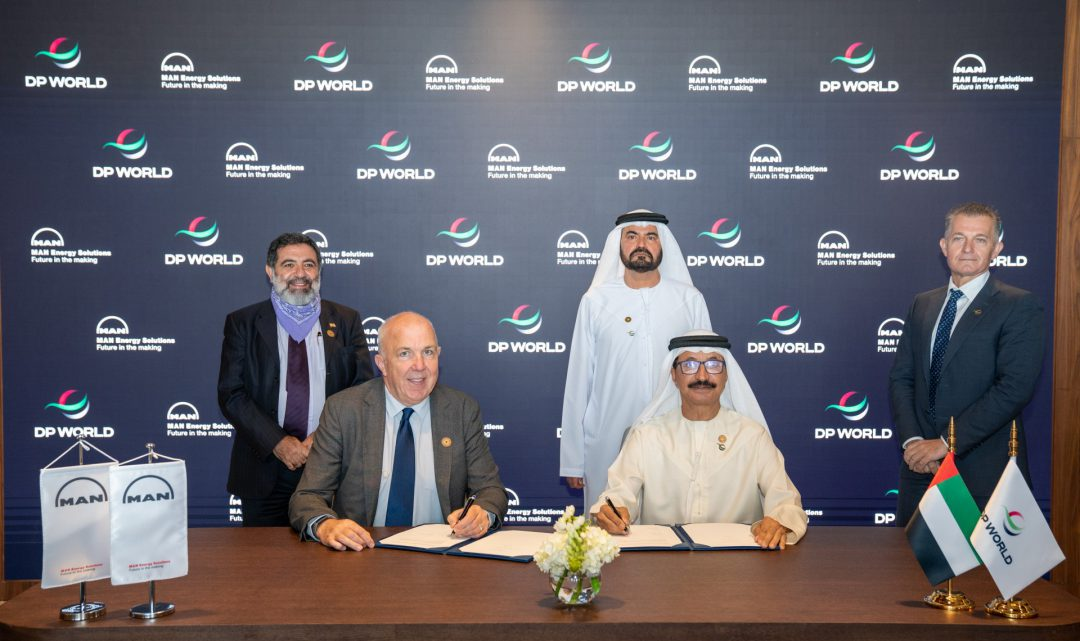 MAN Energy Solutions and DP World sign cooperation agreement. Image: DP World