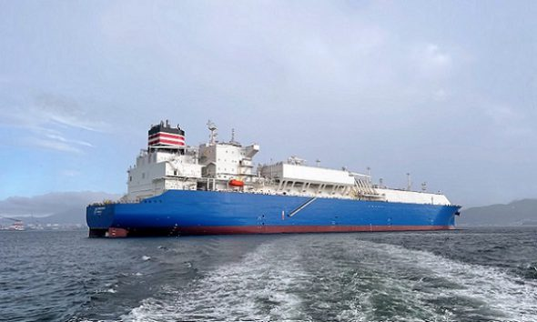 NYK delivers new LNG carrier LNG Endeavour to TotalEnergies. Image: NYK Line
