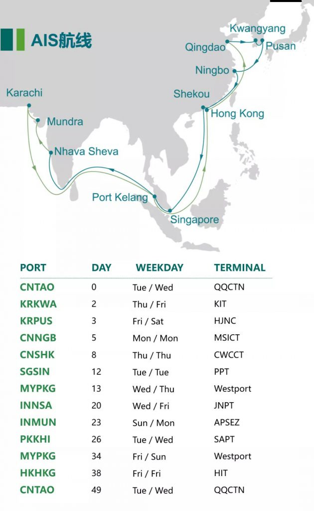 CULINES launches new South China to India services. Image: CULINES